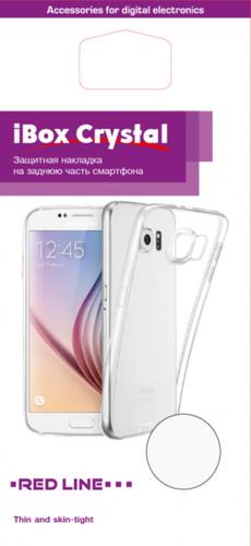 Чехол для смартфона Samsung Galaxy J6 Plus (2018) Silicone iBox Crystal (прозрачный), Redline фото
