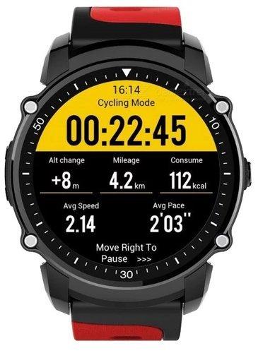 Умные часы KingWear FS08, черно-красные фото