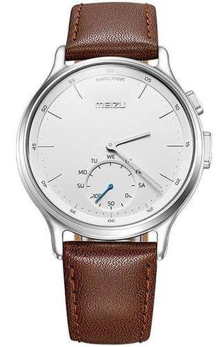 Умные часы Meizu Mix leather серебряные фото