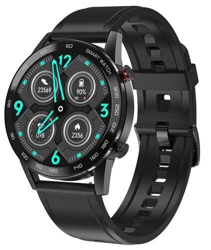 Умные часы DT No.1 DT95, силиконовый ремешок, черный фото