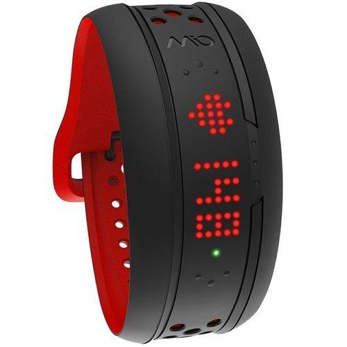 Фитнес трекер MIO Fuse, черный с красным (L) фото