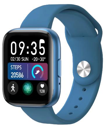 Умные часы Bakeey T99, силиконовый ремешок, синий фото