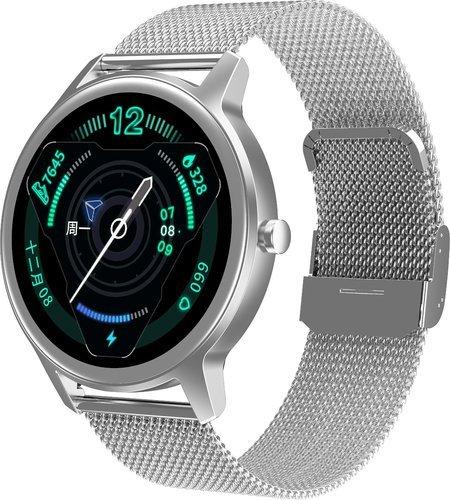 Умные часы DT No.1 DT56, металлический ремешок, белый фото
