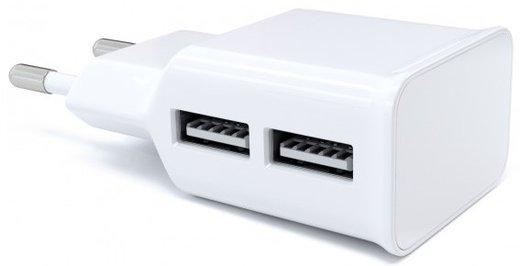 СЗУ адаптер 2 USB (модель NT-2A), 2.1A белый, Redline фото