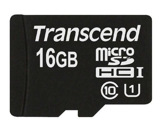 Карта памяти Transcend microSDHC 16GB Class 10 UHS-I U1 (45Mb/s) + ADP фото