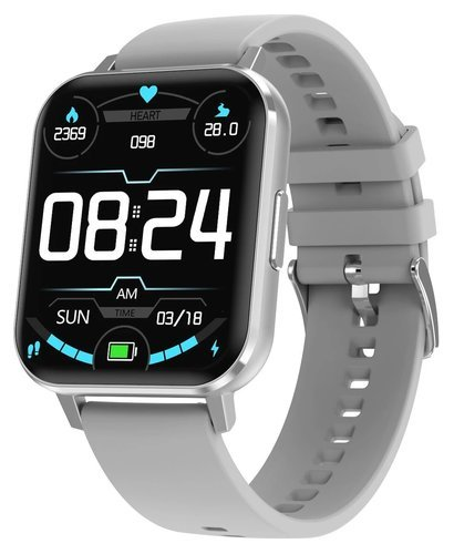"""Умные часы DT No.1 DTX 1.78"""", силиконовый ремешок, серебристый фото"""