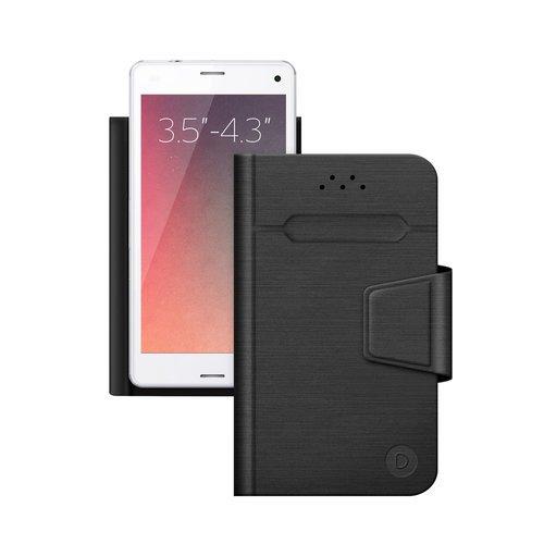 Чехол-подставка для смартфонов Wallet Fold S 3.5''-4.3'', черный, Deppa фото