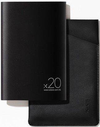 Внешний аккумулятор Xiaomi (Mi) SOLOVE 20000 mAh с кожаным чехлом (A8-2 Black), черный фото