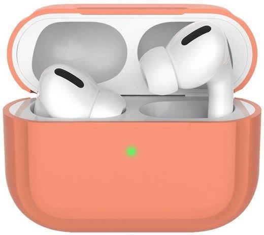 Чехол силиконовый Deppa для наушников Apple AirPods Pro, персиковый фото