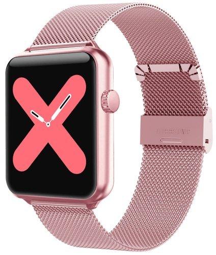 Умные часы Bakeey A10, стальной ремешок, розовое золото фото