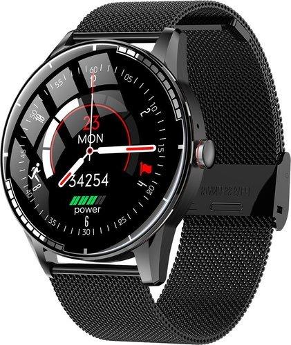 Умные часы Bakeey H6, стальной ремешок, черный фото