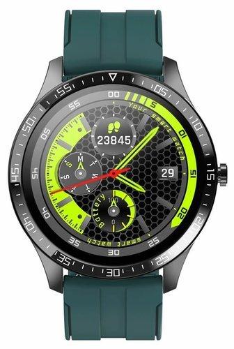Умные часы Senbono S82, силиконовый ремешок, зеленый фото
