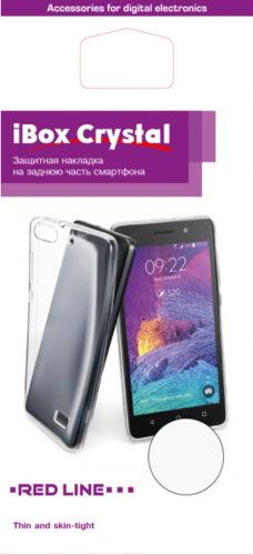Чехол для смартфона Meizu M6 Note Silicone iBox Crystal (прозрачный), Redline фото