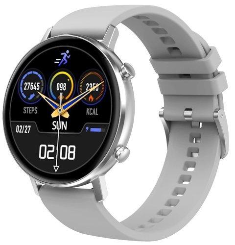 Умные часы DT No.1 DT96, силиконовый ремешок, белый фото