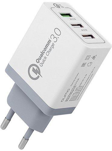 СЗУ адаптер Tech 3 USB (модель NQC-3A) Qick charge 3.0 белый, Redline фото