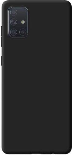 Чехол-накладка для Samsung (A515) Galaxy A51 черный, Microfiber Case, Borasco фото