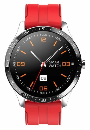 Умные часы Senbono S82, силиконовый ремешок, красный фото