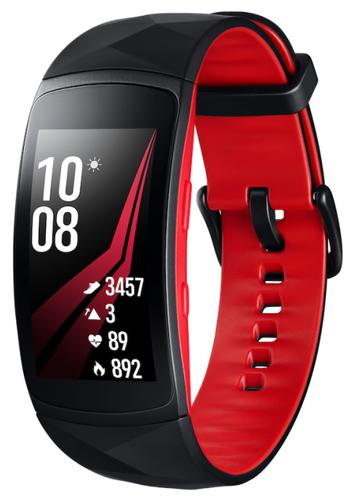 Умный браслет Samsung Gear Fit 2 Pro, черно-красный (L) фото