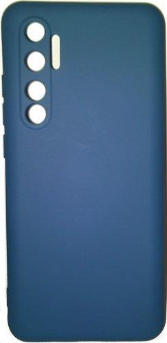 Чехол-накладка для Xiaomi Mi Note 10 Lite синий, Microfiber Case, Borasco фото