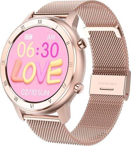 Умные часы DT No.1 DT89, стальной ремешок, розовое золото фото