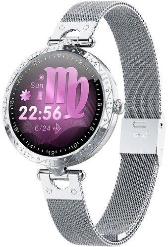 Умные часы Bakeey AK22 ультратонкие, серебристый фото