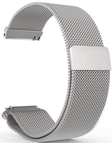 Ремешок сетчатый металлический 20мм для Amazfit GTR42мм/ GTS/ Bip/ Bip Lite, серебряный фото