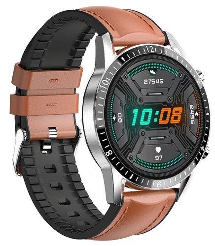 Умные часы Bakeey Hi9, кожаный ремешок, коричневый фото