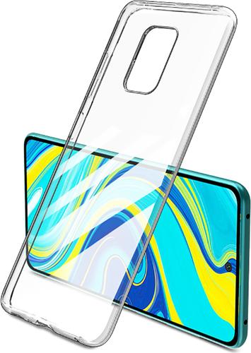 Чехол для смартфона Xiaomi Redmi Note 9S/9 Pro Silicone iBox Crystal (прозрачный), Redline фото