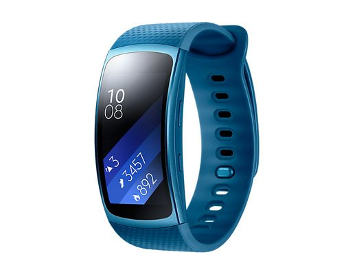 Умный браслет Samsung Gear Fit 2, синий фото
