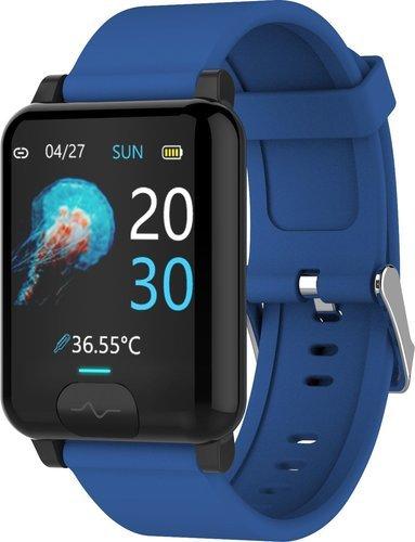 Умные часы Bakeey E04S, силиконовый ремешок, синий фото