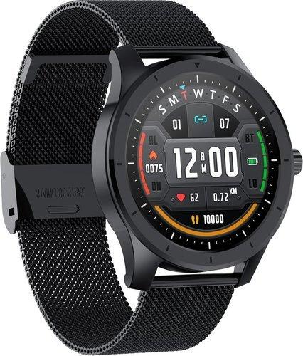 Умные часы Bakeey MX10, стальной ремешок, черный фото