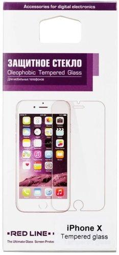 Защитное стекло для Apple iPhone X (Full Screen) черный, Redline фото