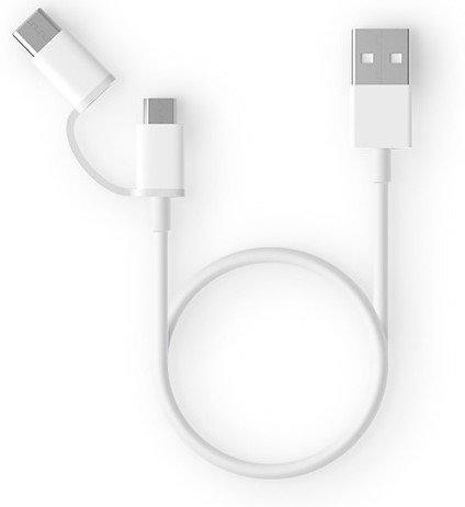 Кабель Xiaomi ZMI 2 in1 USB Type-C/Micro 30 см (AL511) белый фото