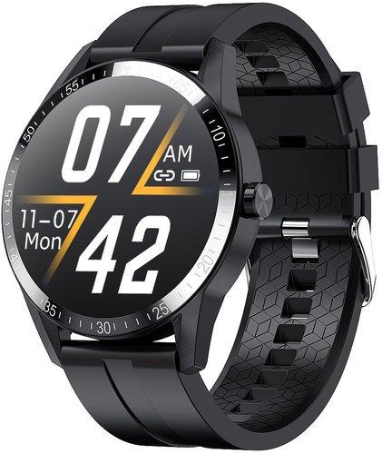 Умные часы Bakeey G20 Pro, силиконовый ремешок, черный фото