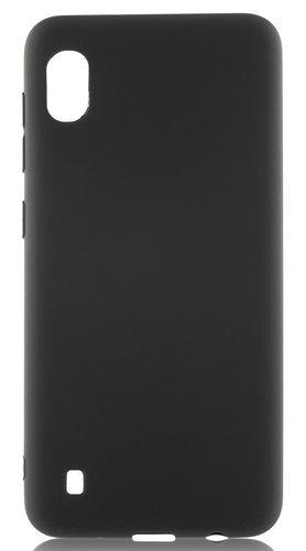 Чехол для смартфона Samsung Galaxy A10 силиконовый (матовый) черный, BoraSCO фото
