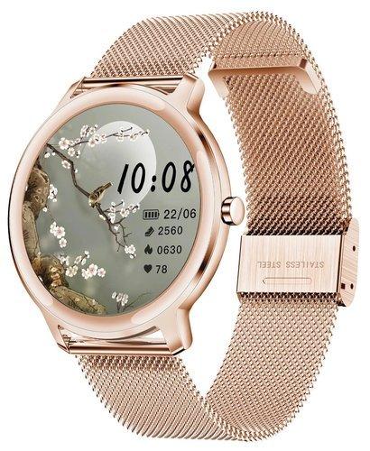 Умные часы Newwear R18 7.3 мм, розовое золото фото