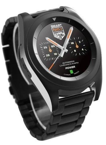 Умные часы NO.1 G6 черные, ремешок сталь фото