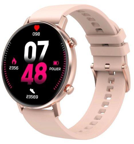Умные часы DT No.1 DT96, силиконовый ремешок, розовый фото