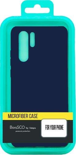 Чехол-накладка для Xiaomi Redmi Note 9 синий, Microfiber Case, Borasco фото