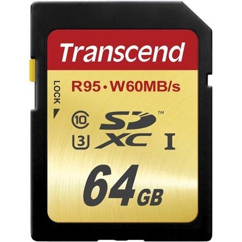 Карта памяти Transcend SDXC Ultimate 633X Class 10 UHS-I U3 (95/60MB/s) 64GB фото