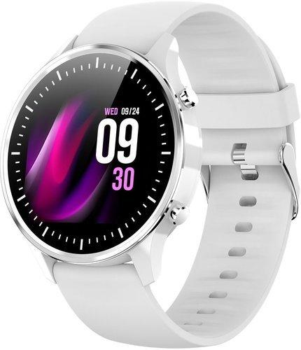 Умные часы Bakeey G21, силиконовый ремешок, серебристый фото