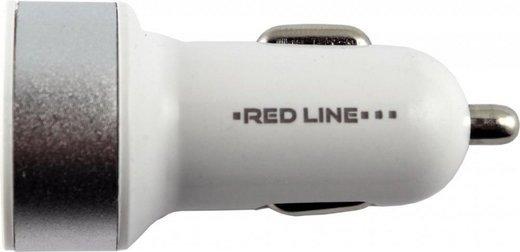 АЗУ 2 USB (модель C19), 1А серебристый, Redline фото