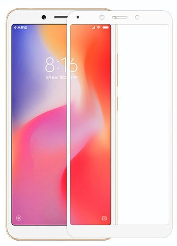 Защитное стекло для Xiaomi Redmi 6/6A Full Screen Glass белый, Dismac фото