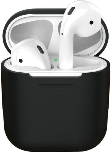 Чехол силиконовый Deppa для наушников Apple AirPods 1/2, черный фото
