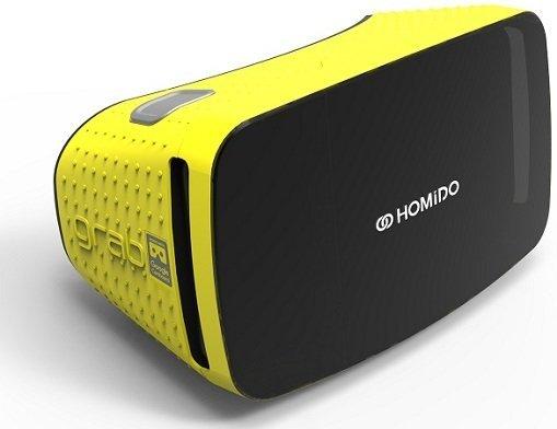 Очки виртуальной реальности Homido Grab желтые фото