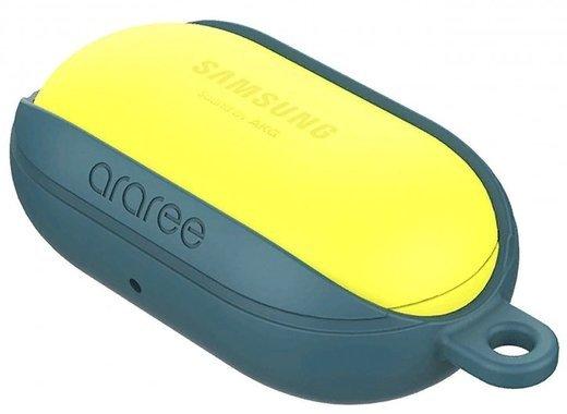Чехол силиконовый Samsung araree Bean для Galaxy Buds+, синий фото