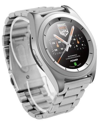 Умные часы NO.1 G6 серебро, ремешок сталь фото