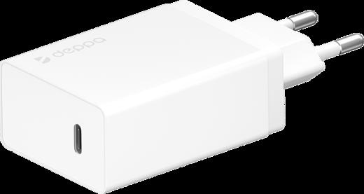 СЗУ адаптер USB Type-C + USB A, QC 3.0, Power Delivery, 30Вт, белый, Deppa фото