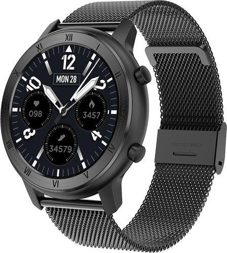 Умные часы DT No.1 DT89, стальной ремешок, черный фото