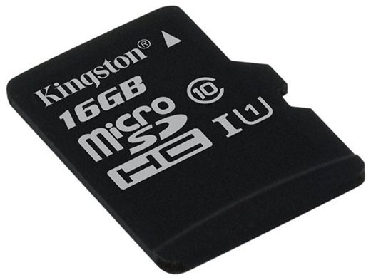 Карта памяти Kingston microSDHC 16GB Class 10 UHS-I Canvas Select до 80MB/s без адаптера фото